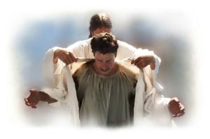 Jesus new robe man