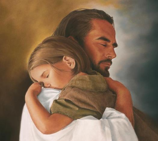 Resting in Jesus' arms