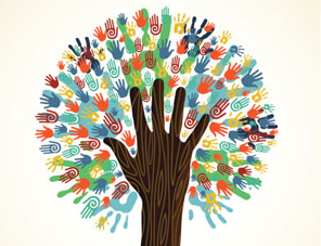 Diversity tree hands pattern